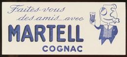 Buvard - MARTELL - Cognac Des Amis - Buvards, Protège-cahiers Illustrés