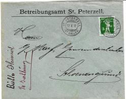 I7 - Enveloppe Avec Cachets à Date De St Peterzell 1912 - Lettres & Documents
