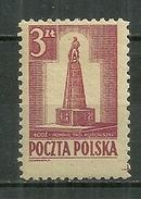 POLAND MNH ** 448 Monument De Kosciuszko à Lodz