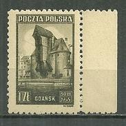 POLAND MNH ** 450 Monument De Gdansk Dantzig