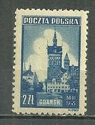 POLAND MNH ** 451 Monument De Gdansk Dantzig