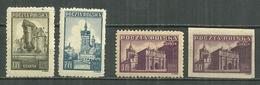POLAND MNH ** 450-452 Monument De Gdansk Dantzig