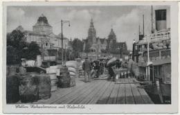 Stettin - Szczecin Pologne /  Polen Poland : Hakenterrasse Mit Hafenbild / Stempel Roten Kreuz 1940 - Polen