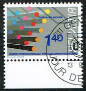 .U.I.T. TIMBRE OBLITERE 1er/J 1988 C/DES TIMBRES SUISSES Nr:14. Y&TELLIER Nr:466. MICHEL Nr:14.