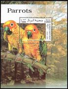BIRDS - SOMALIA REPUBLIC 1999 - PARROTS - MUSTER - SPECIMEN