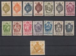 LIECHTENSTEIN - Michel - 1920 - Nr 25/39 - MH* - Liechtenstein