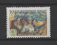 RUSSIE . YT 2264 Neuf ** Cinquantenaire De La Journée Internationale De La Femme 1960