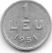 *romania 1 Leu 1951  Km 78a  Xf+ - Roumanie