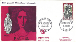 ENVELOPPE 1er JOUR - FDC - N° 1303 - RACHEL - Année 1961 - 1960-1969