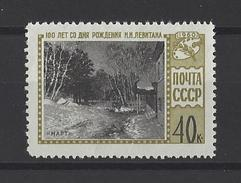 RUSSIE . YT 2325  Neuf ** Centenaire De La Naissance Du Peintre I.I Levitan 1960