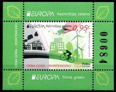 "Europa 2016 ""Think Green"" - Montenegro Bloc ** - Europa-CEPT"