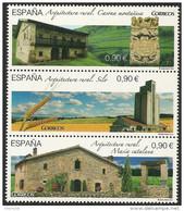 2015-ED. 5005 A 5007 EN BLOQUE - Arquitectura Rural. La Masía Catalana, La Casona Montañesa Y El Silo. - NUEVO