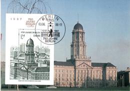 "DDR Halbamtl. Maximumkarte Mi-Nr. 3027 (Block 84) ESSt. BERLIN  6.6.86 ""750 Jahre Berlin"""