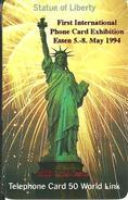 World Link: 1st International Phone Card Exhibition 1994 Essen, Germany - Statue Of Liberty - Vereinigte Staaten