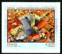 ITALIA / ITALY 2017** - Pistoia - Capitale Italiana Della Cultura 2017 - 1 Val. Autoadesivo Come Da Scansione - 6. 1946-.. Repubblica