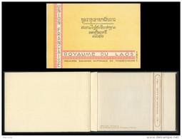 LAOS Blocs N°1/26** Dans Leur Carnet D´origine Grand Luxe Avec Bandelette, 1952 Booklet Of 26 Souvenir Sheets MNH