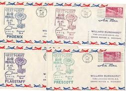 USA Les 4 Lettres 1er Vols Phoenix 1950 - Les 4 Couleurs Cactus