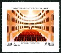 ITALIA / ITALY 2017** - Teatro Del Popolo Di Castelfiorentino - 1 Val. Autoadesivo Come Da Scansione
