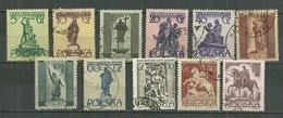POLAND Oblitéré 802-809A Monument De Varsovie - Oblitérés