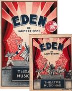 SAINT-ETIENNE - Théâtre-Music-Hall EDEN - Affichette Cartonnée Et Programme - - Historische Documenten