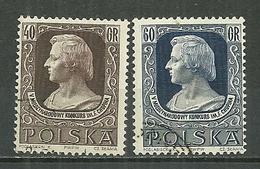 POLAND Oblitéré 794-795 Fédéric CHOPIN Musique Musicien - 1944-.... République