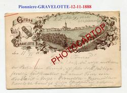 PIONNIERE-Gruss Aus GRAVELOTTE-12-11-1888-Lithographie-G. SCRIBA-FRANCE-57- - Andere Gemeenten