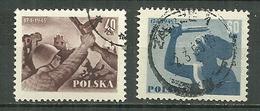 POLAND Oblitéré 792-793 Anniversaire De La Libération De Varsovie Soldat Ruines La Sirène