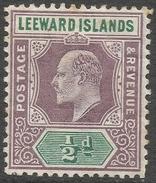 Leeward Islands. 1902 KEVII. ½d MH Crown CA W/M SG 20 - Leeward  Islands