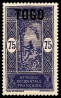 N°114a, (60 C. Sur) 75 C. Violet Sur Rose, Sans Les Chiffres 60, TB