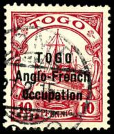 N°56, 10 Pf. Rouge, Oblitéré, Dents Courtes Sinon TB