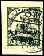 N°55, 5 Pf. Vert, Oblitéré Sur Petit Fragment, TB