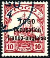 N°45, 10 Pf. Rouge, Oblitéré, Superbe
