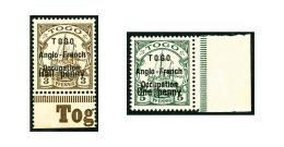 N°31 Et 33, Surcharge Type I, Bord De Feuille, Les 2 Valeurs, Superbe