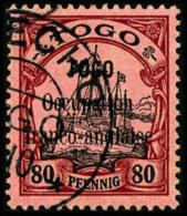 N°29, 80 Pf. Rouge Et Noir Sur Rose, Oblitéré, Superbe