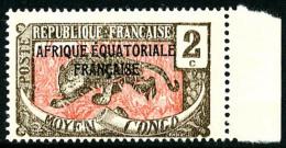 N°20a, 2 C. Sépia Et Rose, Sans La Surcharge TCHAD, Bord De Feuille, Superbe