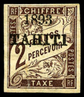 Taxe N°26, 2 F. Marron, TB