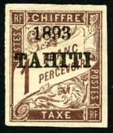 Taxe N°25, 1 F. Marron, TB