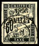 Taxe N°24, 60 C. Noir, Oblitéré, Superbe
