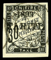 Taxe N°22, 30 C. Noir, Oblitéré, Superbe