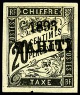 Taxe N°21, 20 C. Noir, TB