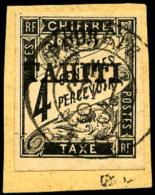 Taxe N°17, 4 C. Noir, Oblitéré Sur Petit Fragment, Superbe
