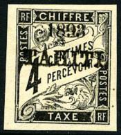 Taxe N°17, 4 C. Noir, Superbe
