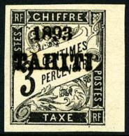 Taxe N°16, 3 C. Noir, Bord De Feuille, Superbe