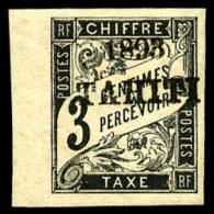 Taxe N°16, 3 C. Noir, Bord De Feuille, TB