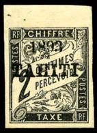Taxe N°15, 2 C. Noir, Haut De Feuille, TB