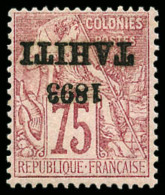 N°29b, 75 C. Rose, Surcharge Renversée, TB