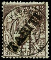 N°9, 4 C. Lilas-brun Sur Gris, Oblitéré, TB
