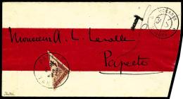 Colonies Générales Taxe N°15, 1 F. Marron, Demi-timbre Oblitéré Càd De Papeete Du
