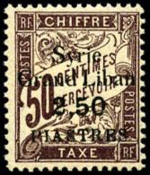 Taxe N°20a, 2 Pi.50 Sur 50 C. Brun, Erreur 2.50 Au Lieu De 3 Pi., Superbe