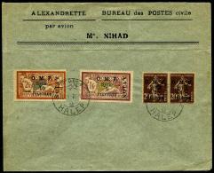 Poste Aérienne N°7 (x2), 8, 9, Oblitérés Sur Enveloppe, TB